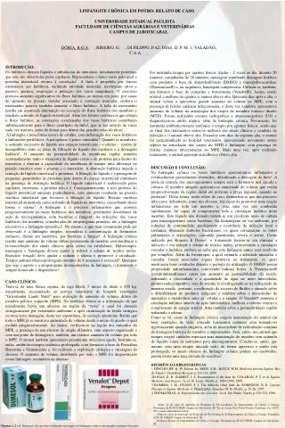 LINFANGITE CR NICA EM POTRO: RELATO DE CASO  UNIVERSIDADE ESTADUAL PAULISTA FACULDADE DE CI NCIAS AGR RIAS E VETERIN RIA