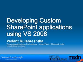 Developing Custom SharePoint applications using VS 2008