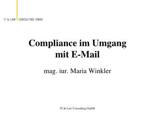 Compliance im Umgang  mit E-Mail