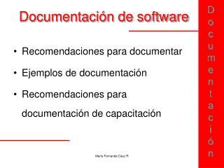 Documentaci n de software