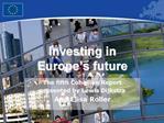 Investing in  Europe s future