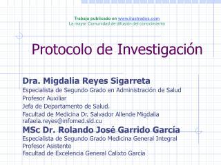 Protocolo de Investigaci n