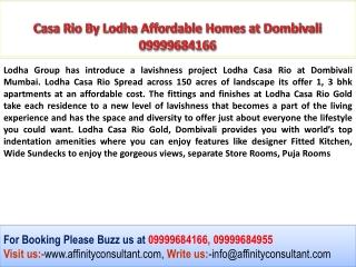 Lodha Casa Rio Dombivali, Lodha Dombivali, Casa Rio by Lodha