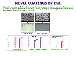 NOVEL COATINGS BY DSC