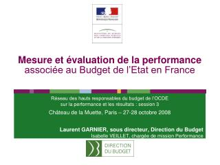 Mesure et  valuation de la performance associ e au Budget de l Etat en France