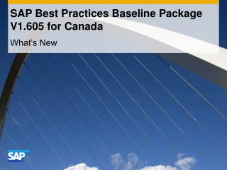 SAP Best Practices Baseline Package  V1.605 for Canada