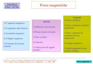 D. Allasia, V. Montel, G. Rinaudo, Dipartimento di Fisica Sperimentale, Universit  di Torino  S.I.S.   Indirizzo Scienze