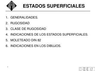 ESTADOS SUPERFICIALES