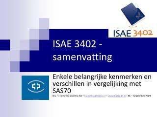 ISAE 3402 - samenvatting