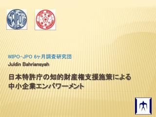 WIPO-JPO 6 Juldin Bahriansyah