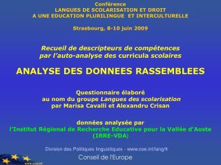 Division des Politiques linguistiques - coet