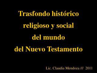 Trasfondo hist rico religioso y social del mundo  del Nuevo Testamento