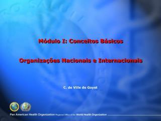 M dulo I: Conceitos B sicos   Organiza  es Nacionais e Internacionais