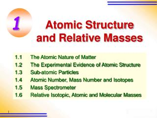Atomic Structure and Relative Masses