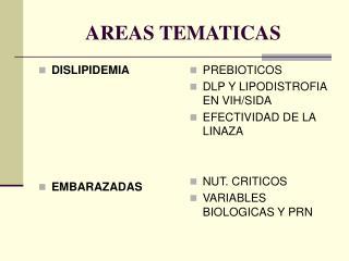 AREAS TEMATICAS