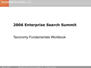 2006 Enterprise Search Summit