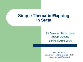 Simple Thematic Mapping in Stata