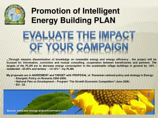 Promotion of Intelligent Energy Building PLAN