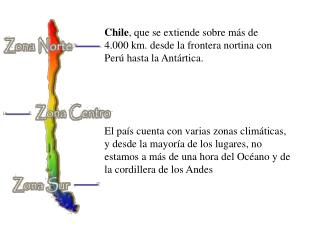 Chile, que se extiende sobre m s de 4.000 km. desde la frontera nortina con Per  hasta la Ant rtica.