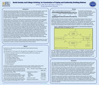 Social Anxiety and College Drinking: An Examination of Coping and Conformity Drinking Motives  Lindsay S. Ham, Ph.D. and