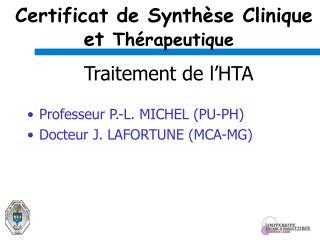 Certificat de Synth se Clinique et Th rapeutique