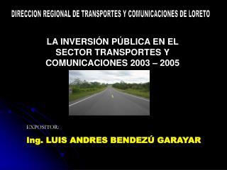 DIRECCION REGIONAL DE TRANSPORTES Y COMUNICACIONES DE LORETO