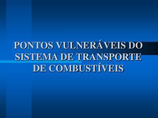 PONTOS VULNER VEIS DO SISTEMA DE TRANSPORTE DE COMBUST VEIS