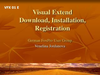 Visual Extend Download, Installation, Registration
