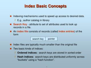 Index Basic Concepts
