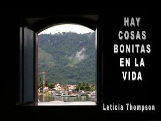 HAY COSAS BONITAS EN LA VIDA