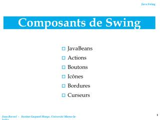 Composants de Swing