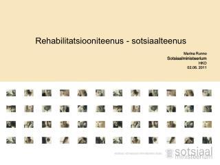 Rehabilitatsiooniteenus - sotsiaalteenus