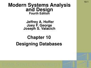 Chapter 10  Designing Databases