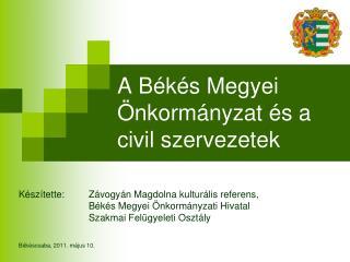 A B k s Megyei  nkorm nyzat  s a civil szervezetek