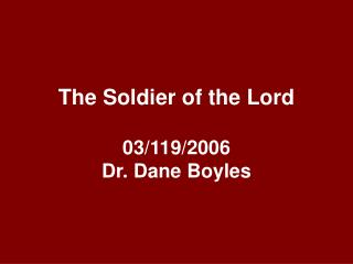 The Soldier of the Lord  03