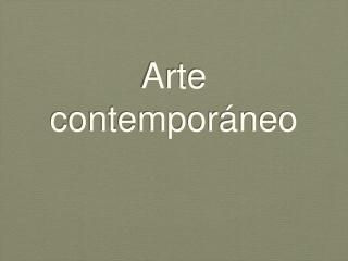 Arte Contempor??neo