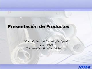 Presentaci n de Productos