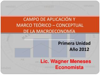 CAMPO DE APLICACI N Y  MARCO TE RICO   CONCEPTUAL  DE LA MACROECONOM A            Primera Unidad        A o 2012  Lic. W
