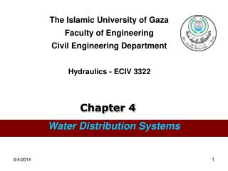 The Islamic University of Gaza Faculty of Engineering Civil Engineering Department    Hydraulics - ECIV 3322