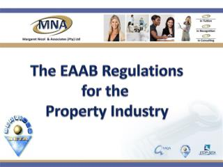 The EAAB Regulations for the  Property Industry