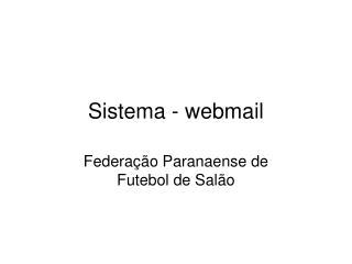 Sistema - webmail