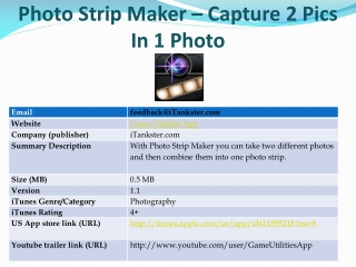 Photo Strip Maker ??? Capture 2 Pics In 1 Photo