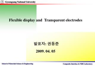 Flexible display and  Transparent electrodes