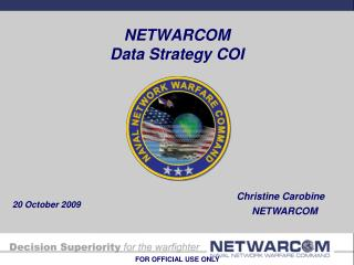NETWARCOM Data Strategy COI