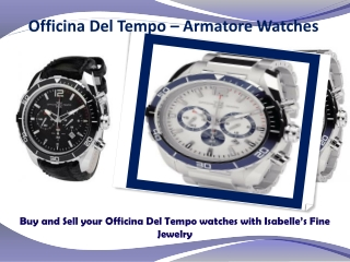 Officina Del Tempo Watches