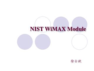 NIST WiMAX Module
