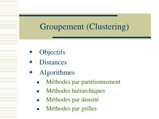 Groupement Clustering