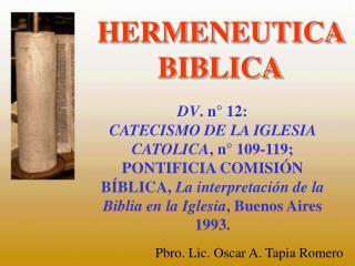 HERMENEUTICA BIBLICA
