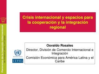 Crisis internacional y espacios para la cooperaci n y la integraci n regional