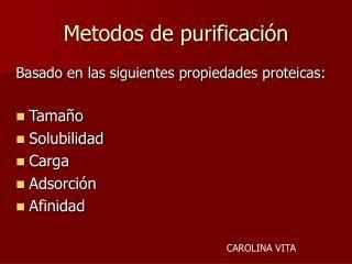 Metodos de purificaci n